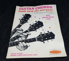 Vintage 1960 GUITAR CHORDS Made Easy For Everyone The Photo-Chart Way