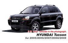 Quarter Glass Sports Mask Matt Black Decal Stickers For Hyundai 2005-2009 Tucson