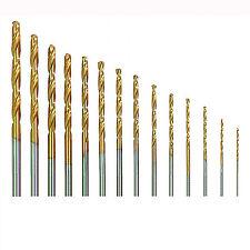 20 Micro HSS Twist Drill Bit Set Plastic Wood Metal Set Titanium Coated In Case