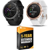 Garmin Vivoactive 3 GPS Smartwatch + 1-Year Extended Warranty Bundle