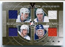 2014 ITG Superlative BRYAN TROTTIER Mike Bossy BILLY SMITH Quad Jersey Vault 1/1
