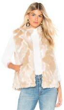 Jack BB Dakota Women's Fur What Faux Fur Vest, Lined, Pockets, Ivory, Sz L, NWT