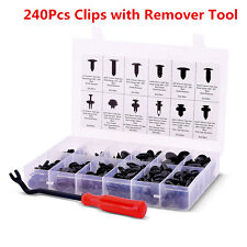 240Pcs Car Push Pin Rivet Trim Clip Panel Body Interior Assortment &Remover Tool