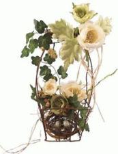 Wire Basket With Wooden Handle Floral / Greenery / Bird Nest w/ Egg Arrangement