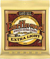 Ernie Ball 2006 Earthwood Acoustic 80/20 bronze Guitar Strings 10-50 extra lite