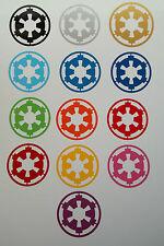 2 x Imperial Insignia Vinyl Decal Sticker Film Movie Stickers 9cm x 9cm