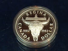 CANADA  1982  ****  PROOF CAMEO  SILVER DOLLAR   ****