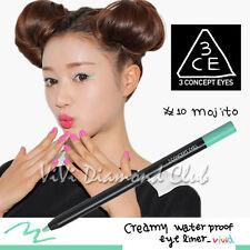 Korean STYLE NANDA 3 CONCEPT EYES Creamy Waterproof Eyeliner #10 MOJITO