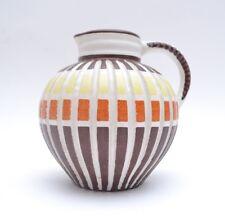 Stylish Mid Century West Cerman Pottery Jug/Vase by Ilkra Keramik Hawaii Decor