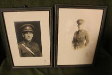 Two Original Ww1 Canadian Army Officer's Wood Framed Toronto Studio Photographs