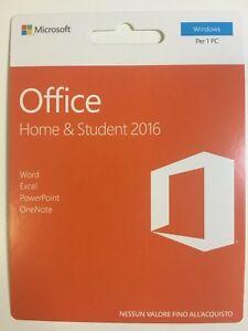 Microsoft Office Home & Student 2016 32/64 Bit New Retail Scratch Card 79G-04640