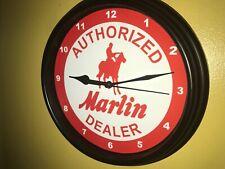 Marlin Firearms Shotgun Rifles Hunting AuthDealer Man Cave Wall Clock Sign