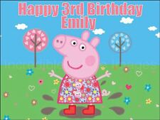 Peppa Pig Personalised Cake Topper Party Decoration