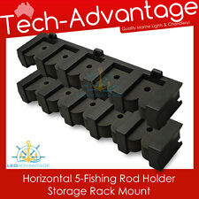 5-ROD HORIZONTAL FISHING COMPACT ROD HOLDERS STORAGE RACK - BOAT/GARAGE/HOME