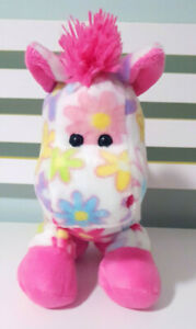 Pick Me Fiesta Horse Plush Toy Pink & White Flowery Horse Plush Toy 30cm Tall!
