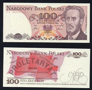 Polonia 100 zlotych 1986 FDS/UNC (Anche Consecutive)  B-01