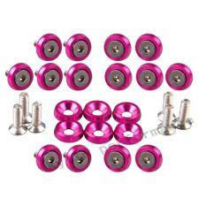 20 PCS BILLET ALUMINUM FENDER/BUMPER WASHER/BOLT KIT ENGINE BAY DRESS UP Pink