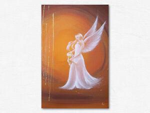"""Schutzengel Kunstfoto """"Ich bin da"""" Engelbild mit Mädchen, Engel Acrylbilder"""