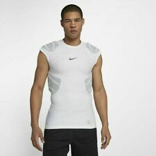 New Nike Protection Hyperstrong 4 Pad GFX Top Football White Mens Sz L