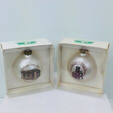 Defiance Ohio Christmas Ornaments 2pc East Side Fire Station Post Office 43512