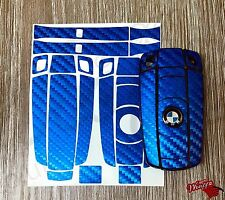 BLUE CARBON Fiber Key Ring Sticker Decal Overlay BMW1 3 5 6 SeriesZ4 X1 3 X5 X6