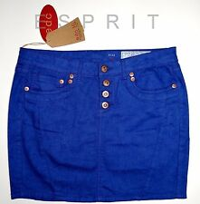 EDC BY ESPRIT ROCK JEANS MINI ROCK USED LOOK STRETCH TINTENBLAU 34 XS  NEU