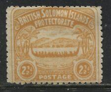 British Solomon Islands 1907 2 1/2d orange mint o.g.