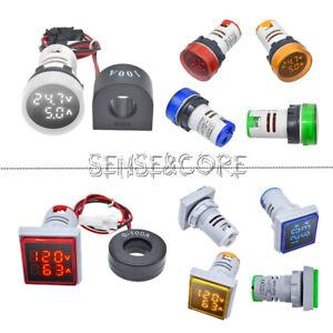 AC 50-500V 0-100A 220V Digital LED Voltmeter Ammeter Voltage Meter Multicolor