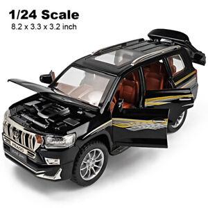 Toyota Prado SUV 1/24 Diecast Model Car Toy Collectible Sound&Light Kids Gift