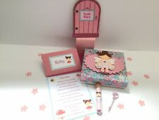 Tooth Fairy Letter, Fairy Door, Fairy Dust, Fairy Wand And Gift Box, First Tooth