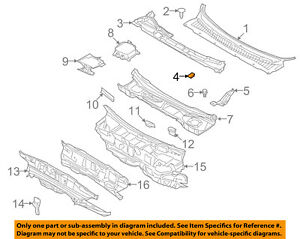 FORD OEM-Cowl Grille Clip W709919S438