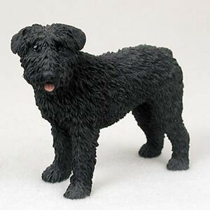 Bouvier Figurine Hand Painted Collectible Statue Uncropped