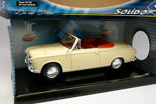 Solido 1/18 - Peugeot 403 Cabriolet Crème 1964