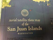 Poster Aerial Satellite Photo Map of the San Juan Islands