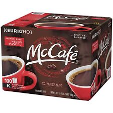 McCafe Premium Roast Coffee K Cups 100 K-cup Pods Single Packs Keurig Brewers