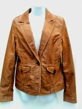 SIZE 12 TAN/BROWN VINTAGE, 80'S, SOFT CORD, POCKETS AT FRONT, BLAZER BY MOTO
