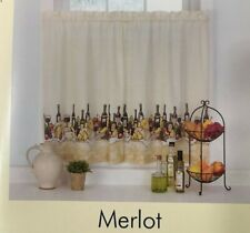 "Merlot Tiers Wine Window Curtains 29"" x 36"" Kitchen (No Valance)"