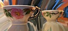 "eIGHT (8) Franciscan Desert Rose Tea Cups 3"" x 4"" -Good Condition"