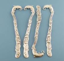 2 x SEGNALIBRI Delfino in bianco, 124 mm, tono argento-stesso giorno * post gratuito *