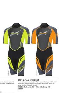 Sea-Doo Men's X-Team Springsuit WetSuit - Size Medium - Orange/Grey