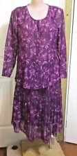 Ladies Miller's Purple & Pink Floral Suit Pleated skirt Plus size 20