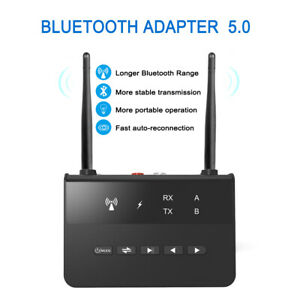 Bluetooth 5.0 Wireless Receiver Transmitter HIFI RCA to 3.5mm Aux Jack Adapter