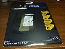 "Zagg HD(High Def.) Screen shield for Amazon Kindle Fire HD 8.9"" - Fast Free Ship"