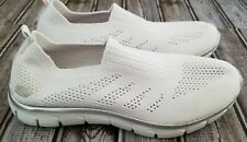 Womans Skechers Air Cooled Memory Foam Slip On Shoes, Size 8, White