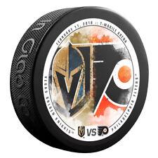 VEGAS GOLDEN KNIGHTS vs PHILADELPHIA FLYERS NHL Matchup Hockey Puck 02/11/18