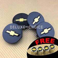 "Set of 4 Car Alloy Wheel Center Hub Cap Badge Logo CHEVY 57mm 2.25"" US Seller"
