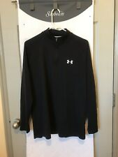 Mens Under Armour Heatgear Loose Fit Pullover Athletic Shirt Size Md Black