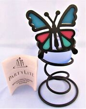 PartyLite Butterfly Spiral Votive Candle Holder Height 6 1/4 Inches