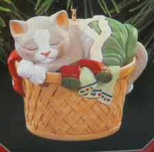 Hallmark Keepsake 1998 Cat Nap Collector's Series Cat in Laundry Basket
