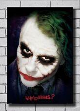 Why So Serious Joker Heath Ledger Wall Decor Poster , no Framed
